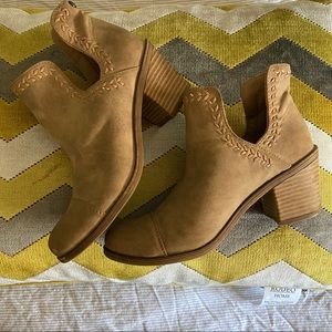 Roxy braided ankle boots